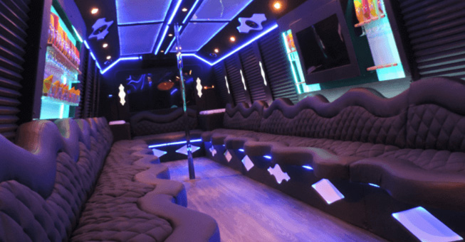 San Francisco 20 Passenger Party Bus Interior